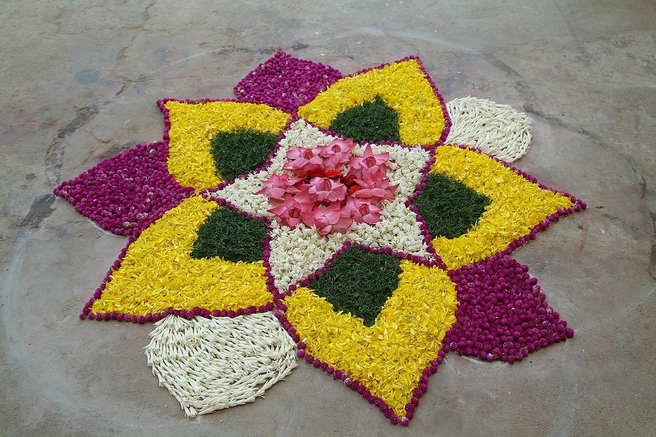 Flower rangoli,folk art,india,chennai,madras - free image from ...