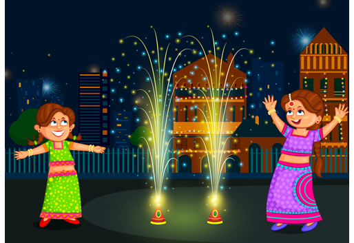 Image result for fireworks on diwali